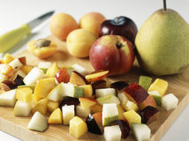Dicing the fruit Stock Photography