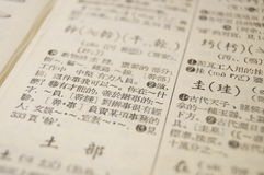 Dicionário chinês Imagens de Stock