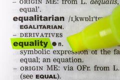 Dicionário da igualdade Fotografia de Stock