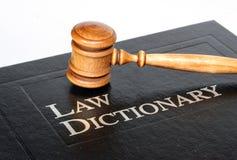 Dicionário da lei Foto de Stock Royalty Free