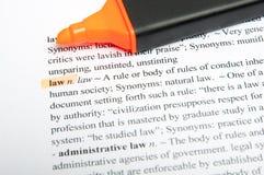 Dicionário da tradução da lei Imagens de Stock Royalty Free