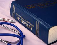 Dicionário médico Fotos de Stock Royalty Free