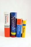 Dicionários extrangeiros Fotografia de Stock Royalty Free