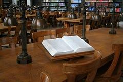 Dicionário na biblioteca Imagem de Stock