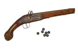 Diciottesimo-diciannovesimi secoli della pistola antica. Fotografie Stock Libere da Diritti