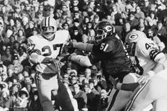 Dick Butkus, Chicago Bears Lizenzfreie Stockbilder