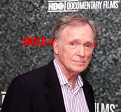 Cavett. Erstwhile talk show host Cavett arrives for the HBO screening of the television documentary Smash His Camera, New York City; June 1, 2010 royalty free stock photos