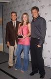 Dick Clark, Kelly Clarkson, Nick Lachey photo stock