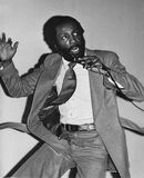 Dick Gregory. Civil rights activist, agitator, comedian, author, entrepreneur, former college track athlete, Dick Gregory, is caught in the act of making jokes Royalty Free Stock Photo