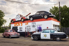 Dick`s Towing roadside attraction in the US Route 66 in Joliet, Illinois, USA Stock Images