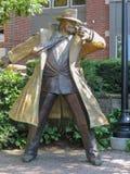 Dick Tracy statua w Naperville przy Riverwalk Zdjęcia Stock
