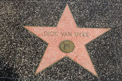 Dick Van Dyke's star on Hollywood Walk of Fame Stock Photo