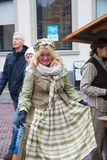 Dickens festival characters Christmas carol. Every year in Deventer, with different characters. men and women who do after the Middle Ages. figurants are made Stock Photography