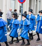 Dickens festival characters Christmas carol. Every year in Deventer, with different characters. men and women who do after the Middle Ages. figurants are made Royalty Free Stock Photos