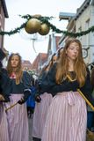 Dickens festival characters Christmas carol. Every year in Deventer, with different characters. men and women who do after the Middle Ages. figurants are made Royalty Free Stock Photo