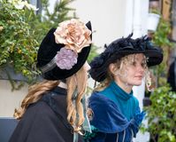 Free Dickens Festival Women With Bleu Hats Christmas Carol Royalty Free Stock Photo - 106911355