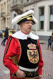 Dickens festiwalu mężczyzna miasta spikera organu kolęda Zdjęcia Stock