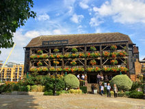 The Dickens Inn pub London. The Dickens Inn pub near the Tower of London in St Katharine Docks London Royalty Free Stock Photo