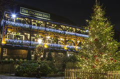 The Dickens Inn Public House at Christmas Stock Image