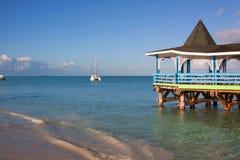 Dickenson海湾,安提瓜岛 免版税库存照片