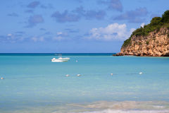 Dickenson海湾,安提瓜岛 免版税图库摄影