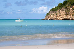 Dickenson Bay, Antigua. Beautiful Dickenson Bay in Antigua, photographed in November 2012 Stock Image
