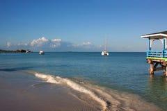 Dickenson zatoka, Antigua Obrazy Royalty Free