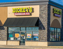 Dickey`s Barbecue Pit Restaurant stock photo