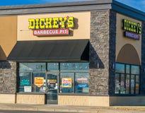 Dickey ` s grilla jamy restauracja Zdjęcie Stock