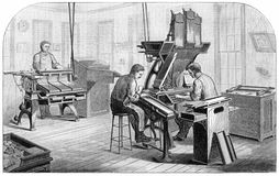 Dickinson-Lorenz Typesetting and Distributing Machines Stock Images