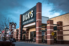 Dicks Sportowych towarów sklep detaliczny Zdjęcie Stock