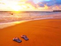 Dicky Beach Sunrise Foto de archivo