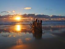 Dicky Beach wreck Stock Photo