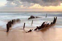 Dicky Wreck au lever de soleil Photographie stock libre de droits