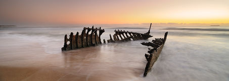 Dicky Wreck bei Sonnenaufgang stockfoto