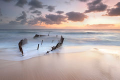 Dicky Wreck at sunrise Royalty Free Stock Image