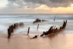 Dicky Wreck at sunrise Royalty Free Stock Photography
