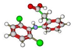 Diclofenac ensteroidal anti-upphetsa drog royaltyfri illustrationer