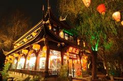 Dicos en la calle vieja de Jinli Imagen de archivo libre de regalías