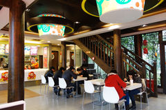 Dicos  restaurant interior Stock Photography