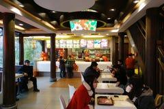 Dicos  restaurant interior Stock Images