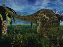 Dicraeosaurus - dinosaur 3D Image libre de droits