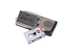 Dictaphone. Are on a white background Royalty Free Stock Image