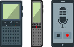 dictaphone illustration stock