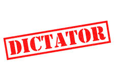 DICTATOR. Red Rubber Stamp over a white background Stock Photography