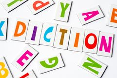 Diction λέξης φιαγμένο από ζωηρόχρωμες επιστολές Στοκ φωτογραφία με δικαίωμα ελεύθερης χρήσης