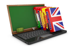 Dictionaries and notebook Royalty Free Stock Images