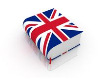 Dictionary. 3d english book for translation Stock Photos