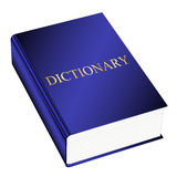 Dictionary. Vector illustration of blue dictionary Royalty Free Stock Images