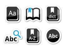 Dictionary book  icons set Royalty Free Stock Photos